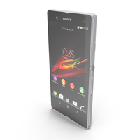 Sony Xperia Z White PNG & PSD Images