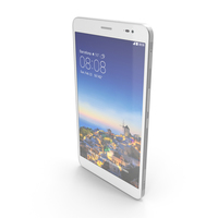 Huawei MediaPad X1 Snow White PNG & PSD Images