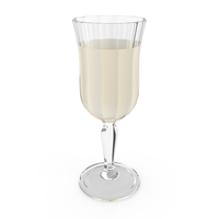 Crystal Glass with White Wine PNG & PSD Images