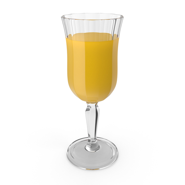 Crystal Glass With Orange Juice PNG & PSD Images