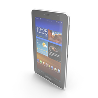 Samsung Galaxy Tab 7.0 Plus White PNG & PSD Images