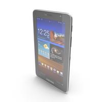 Samsung P6200 Galaxy Tab 7.0 Plus Black PNG & PSD Images