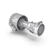 Turbofan CFM-56 Aircraft Engine PNG & PSD Images