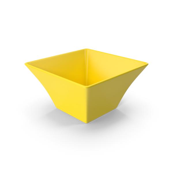 Ceramic Bowl Yellow PNG & PSD Images