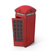 British Red Telephone Box PNG & PSD Images