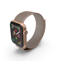 Apple Watch Series 4 Gold PNG & PSD Images