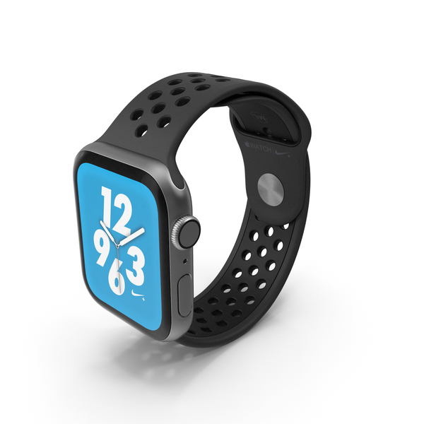 Apple Watch Series 4 Nike Black PNG & PSD Images