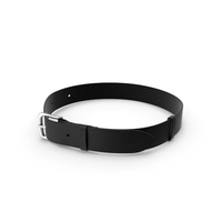 Men's Leather Belt with Buckle Black PNG & PSD Images