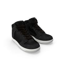 Black Skateboarding Shoes PNG & PSD Images