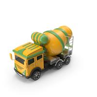 Cartoon Concrete Mixer Truck PNG & PSD Images