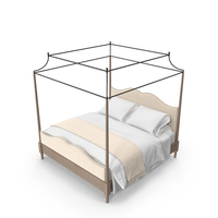 Bernhardt Auberge Poster Bed with Metal Canopy PNG & PSD Images