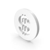 Dollar Symbol White PNG & PSD Images