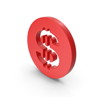 Dollar Red PNG & PSD Images