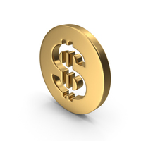 Dollar Gold PNG & PSD Images