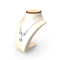 Necklace on Stand PNG & PSD Images