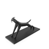 Black Dog Sculpture PNG & PSD Images