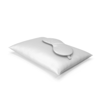 Set of White Silk Pillow and Sleep Mask PNG & PSD Images