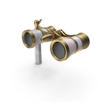 Classic Pearl Opera Glasses PNG & PSD Images