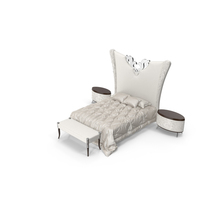 Elledue Luxury Art Deco Bedroom Set PNG & PSD Images