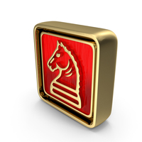 Knight Icon Gold PNG & PSD Images