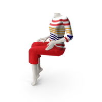Sitting Mannequin PNG & PSD Images