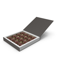 Gift Box with Chocolate for Valentines Day PNG & PSD Images