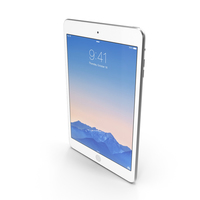 Apple iPad Mini 3 Silver PNG & PSD Images
