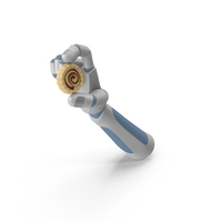Robot Hand Holding A Circular Chocolate Truffle PNG & PSD Images