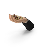Suit Hand Handful with Chocolate Truffles PNG & PSD Images