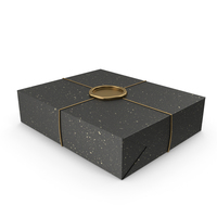 Black and Gold Gift Wrapping with a Wax Seal PNG & PSD Images