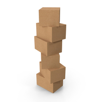 Stack of Cardboard Boxes PNG & PSD Images