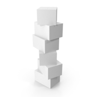 Stack of White Boxes PNG & PSD Images