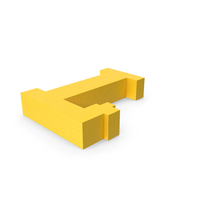 Stylised Cartoon Voxel Pixel Art Letter L on Ground PNG & PSD Images