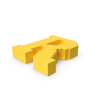 Stylized Cartoon Voxel Pixel Art Letter R On Ground PNG & PSD Images
