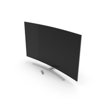 Curved Smart QLED TV 65 inch with Remote Control PNG & PSD Images