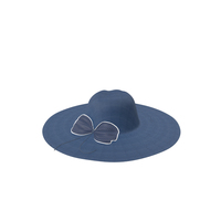 Hat With Bow Blue PNG & PSD Images