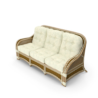 Albany Rattan Sofa PNG & PSD Images