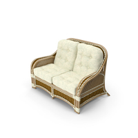 Albany Rattan Sofa 2-Seat PNG & PSD Images