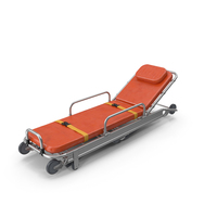 Folded Ambulance Stretcher Trolley PNG & PSD Images