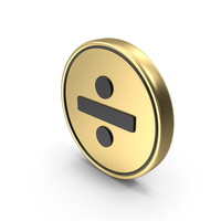 Divided By Coin Sign Icon Symbol PNG & PSD Images