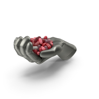 Glove Handful with Valentines Jelly Beans PNG & PSD Images