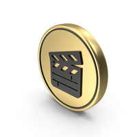 Clapper Board Coin Logo Icon PNG & PSD Images