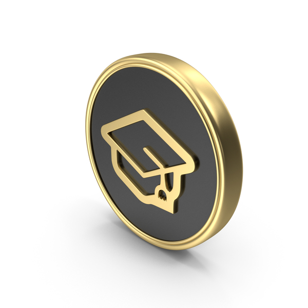 Graduation Cap Coin Logo Icon PNG & PSD Images