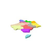 France 3D Map PNG & PSD Images