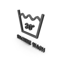 Textile Care Symbol Machine Wash PNG & PSD Images