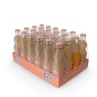 24 Fanta Glass Bottle Case PNG & PSD Images