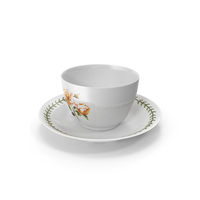 Cup and Plate Roses Theme PNG & PSD Images