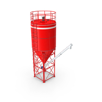 Silo 2-sections with Tube Conveyor PNG & PSD Images
