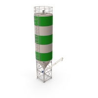 Silo 5-sections with Tube Conveyor PNG & PSD Images