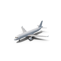 Airbus A320-200 Generic White PNG & PSD Images